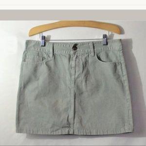 J.Crew Gray Cotton A Line Denim Skirt Size 8